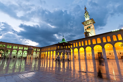 The Umayyad Mosque, located in the heart of the Old City.