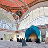 Interior of the Şakirin Mosque, the first mosque in the world to be designed by a female architect.