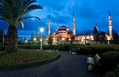 The Blue Mosque in the morning.