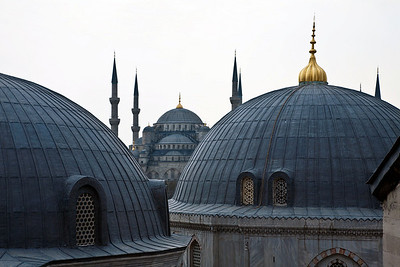 The Blue Mosque as seen from the Aya Sofia.