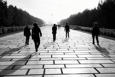 Heading towards the square at Anıtkabir, the Mausoleum of Ataturk.