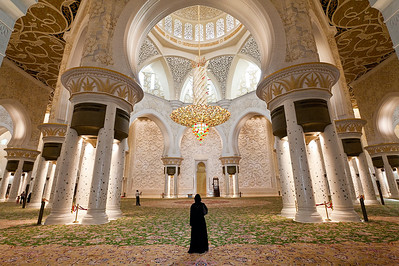 Inside the Sheikh Zayed Grand Mosque.