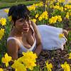 MERCI IN A FLOWER FIELD ON BELL ISLE