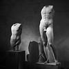 Two Greek Statues _ bw