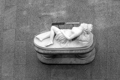 Mexican Girl Dying _ bw
