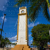 Clock tower in Cozumel Island of Mexico