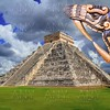 Ancient Kukulcan Mayan temple chichen itza snake