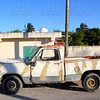 aged vintage weathered truck in  mexico