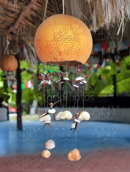 handcraft lamp with seashells traditional Mexico
