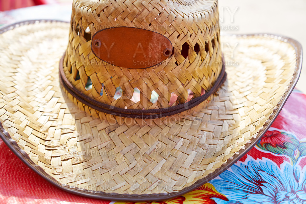 Mexico traditional male straw hat