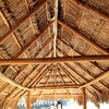 Caribbean wooden sun roof Palapa