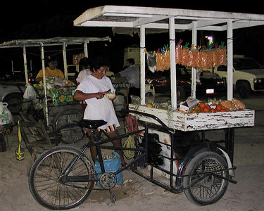 Mexican Fruit Stand on a Bike !