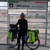 At the Mexicp - US land Border crossing ramp