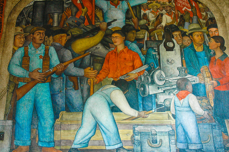 Mural of Diego Rivera<br /> Secretariat of Public Education<br /> Mexico City