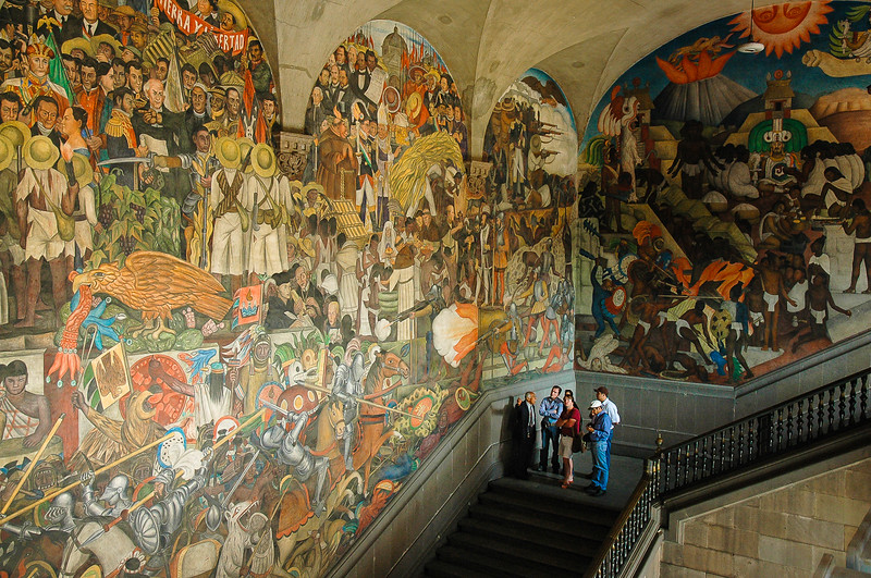 Murals of Diego Rivera<br /> Secretariat of Public Education<br /> Mexico City
