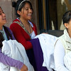 TEENS PREPARE FOR PROCESSION
