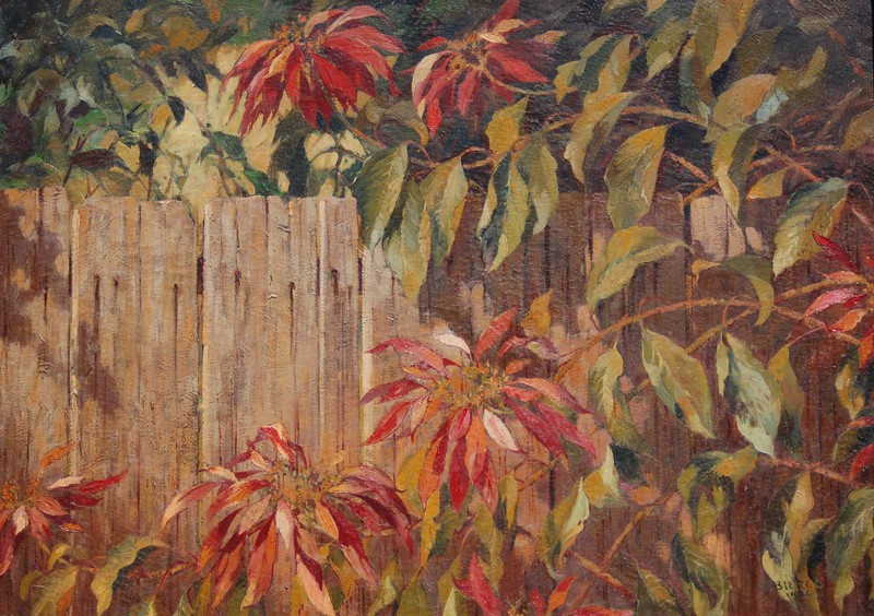 BIERCE, HARRY  TAMPA  Bierce Backyard, 1930