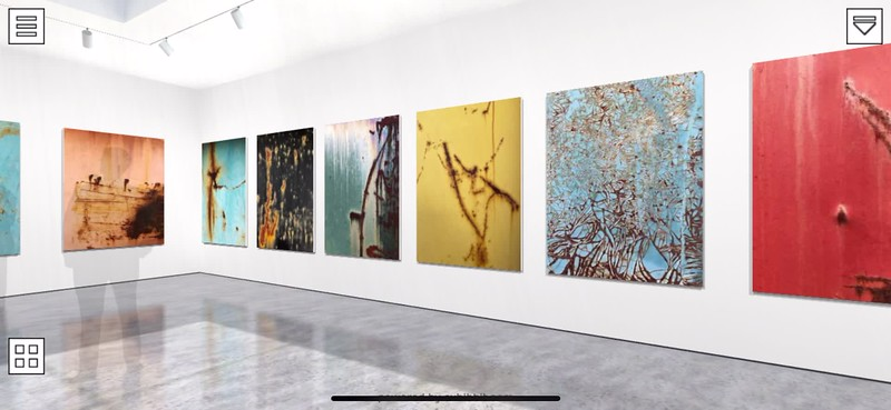 Virtual Video Walk Thru my Eyes:  reinventing captured frames:rousing poetic visions : Bonnie Kern thesis gallery exhibition