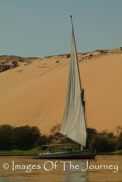 Sailing the Desert: A Faluca at Aswan Egypt