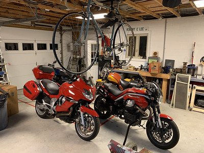 My moto-harem awaits company's arrival