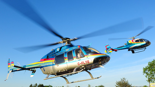 Mike Reyno, H130 with 407, Niagara Helicopters