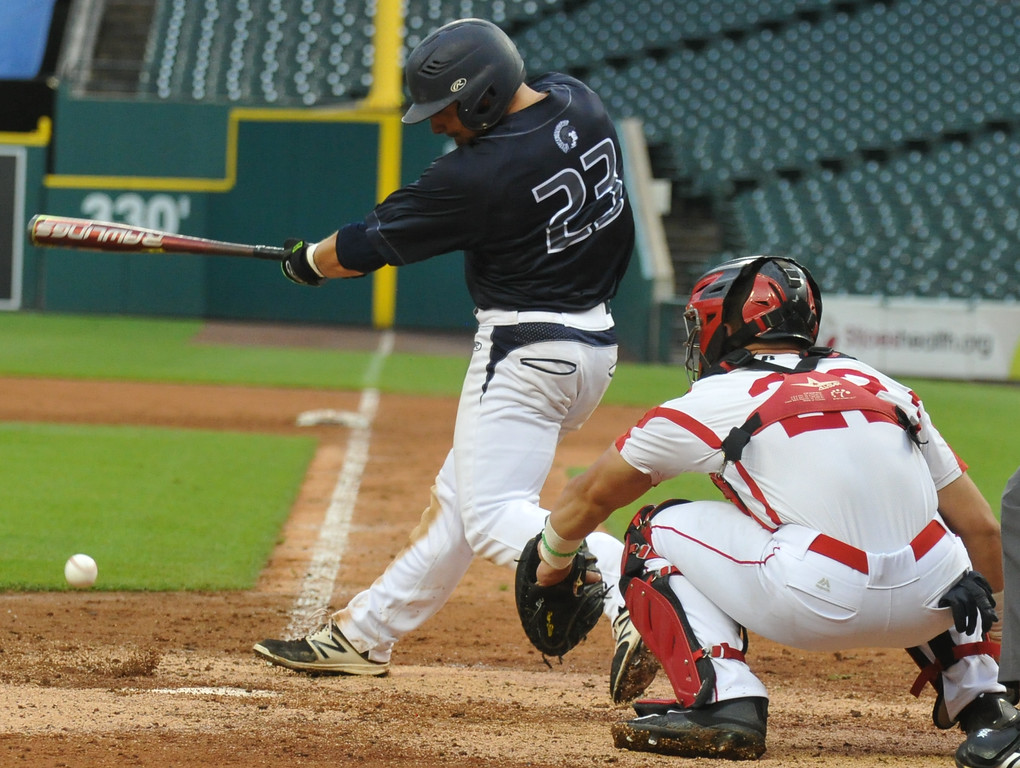 . Baseball action from the MHSBCA All Star Game held on Tuesday June 20, 2017 at Comerica Park in Detroit.  The East team defeated the West team 7-5.  (Digital First Media photo by Ken Swart)