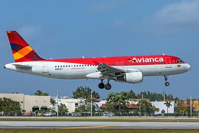 Avianca Airbus A320-214 N961AV 2-13-20