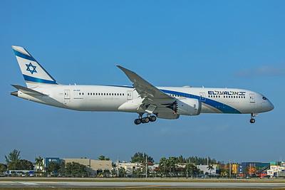 El Al Israel Airlines Boeing 787-9 Dreamliner 4X-EDE 2-13-20 2