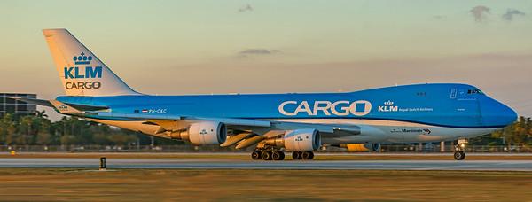 KLM Royal Dutch Airlines Boeing 747-406F(ER) PH-CKC 1-23-21 2