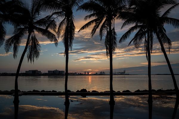 Sunrise, Bayfront Park, Miami, FL.