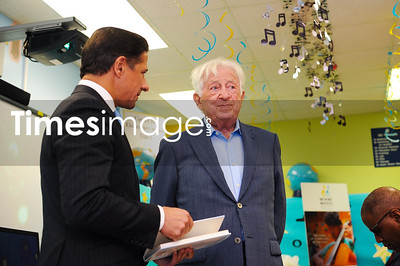 Superintendent Alberto Carvalho and Stanley Cohen