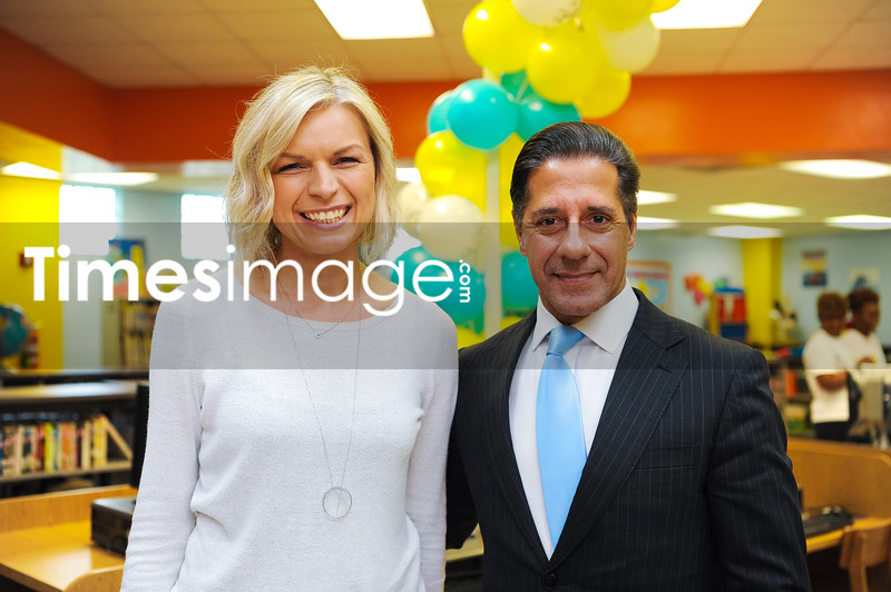 Executive Director Annya Klimala and Miami Dade School Superintendent Alberto Carvalho