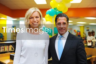 Executive Director Annya Klimala and Miami Dade School Superintendent Alberto Carvalho