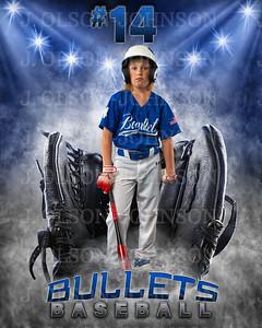 Baseball Softball Glove Individual Template