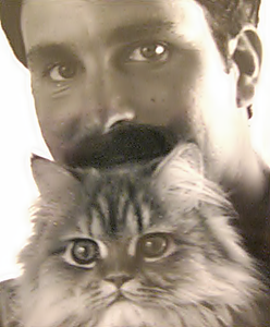 """With my red Persian cat """"Clancy"""""""