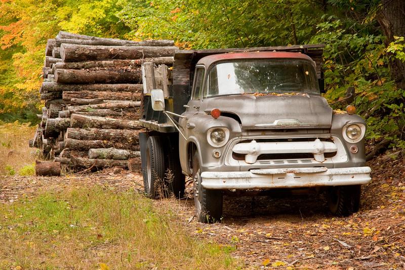 Logging truck, Munising MI