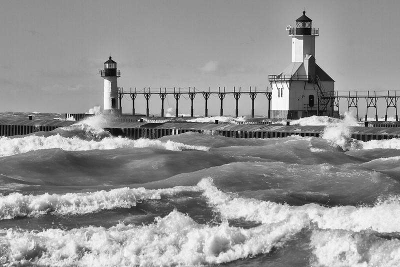 St. Joseph Light, Lake Michigan