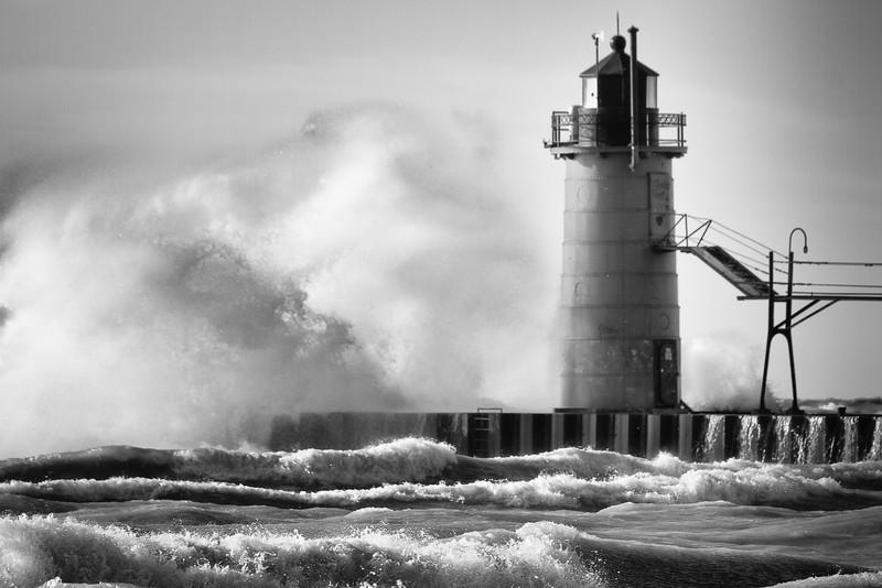 South Haven Light, Lake Michigan