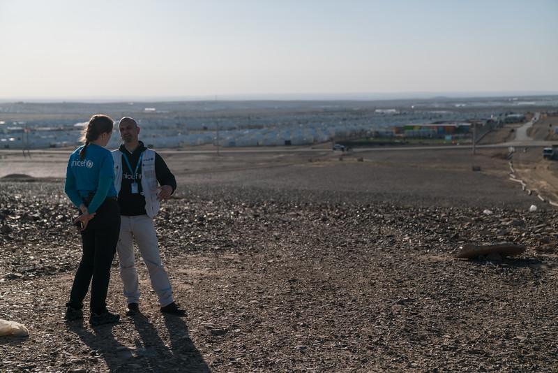 February 21, 2017. Norwegian Nat Com visit to Azraq refugee camp in Jordan.