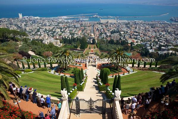 ISRAEL, Haifa. Bahai Gardens (4.2016)