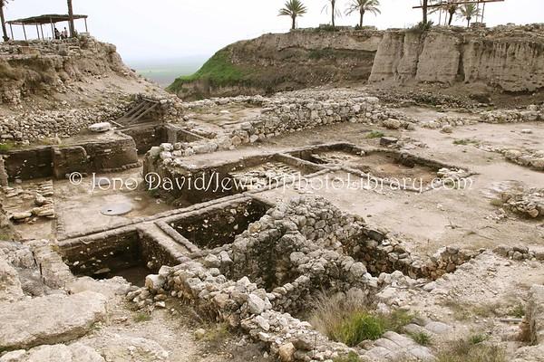ISRAEL, Tel Megiddo. Tel Megiddo (Armageddon). (2.2010)