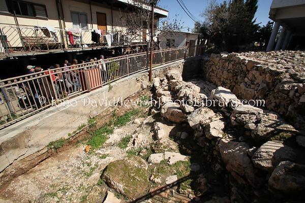 WEST BANK, Hebron, Admot Yishai neighborhood. Tel Hebron (Tel Rumeida). (3.2012)