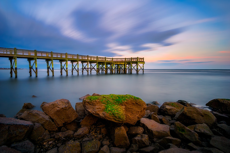 Long exposure  image taken at Walnut Beach Pier in Milford, Connecticut, USA.