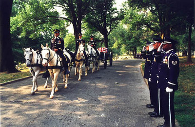 Final Respects for a fallen hero at Arlington National Cemetary