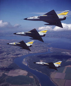 F-106 Delta Dart flies into retirement over the lakes and waterways of upstate New York.