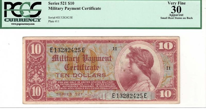 SERIES 521 $10