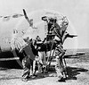 Snow White, a Consolidated B-24 Liberator bomber of the U.S. Army 9th Air Force, at a forward bomber base in the Libyan desert, April 1943