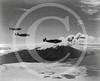 Three Lockheed/Vega Ventura bombers pass Kiska Volcano, 15 August 1943