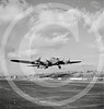 B-17F Flying Fortress bomber sets out on a test flight from the airfield of Boeing's Seattle plant, December 1942