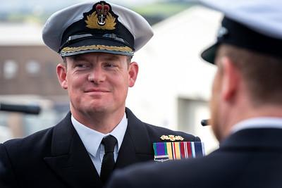 HMS Northumberland departing HMNB Devonport Procedure Alpha